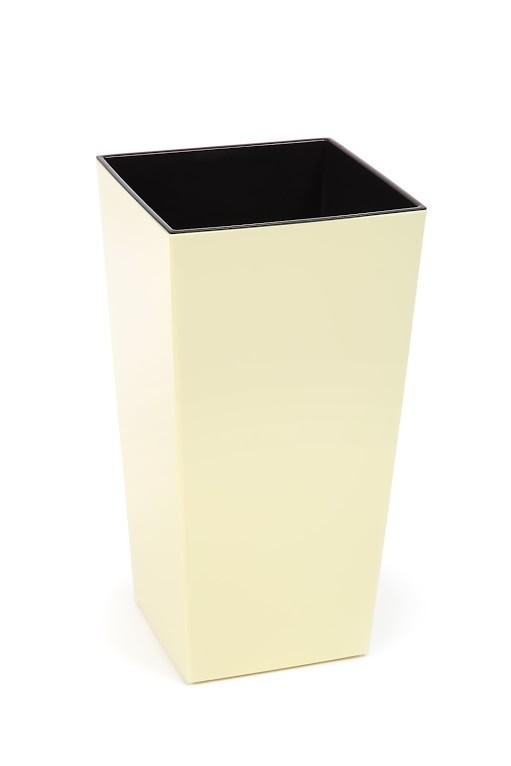 Plastový květináč Finezia lesklý 47cm Barva: krémová