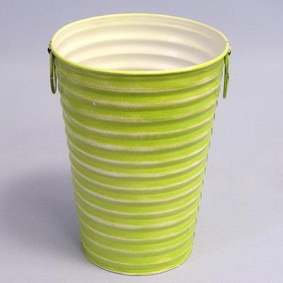 Váza vlnky plech Barva: zelená