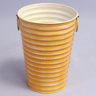 Váza vlnky plech Barva: oranžová