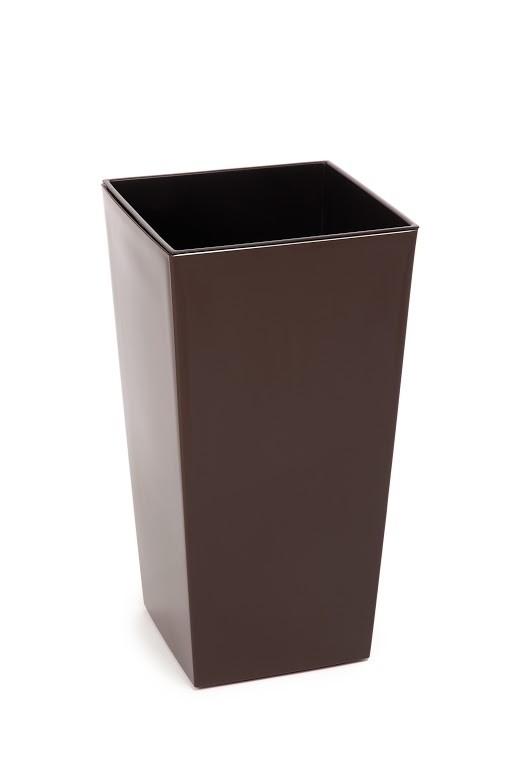 Plastový květináč Finezia lesklý 57cm Barva: hnědá