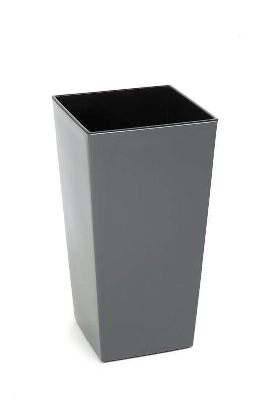 Plastový květináč Finezia lesklý 57cm Barva: šedá