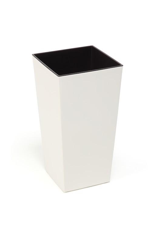 Plastový květináč Finezia lesklý 57cm Barva: smetanová
