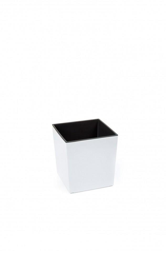 Plastový květináč Juka lesklý 20cm Barva: bílá