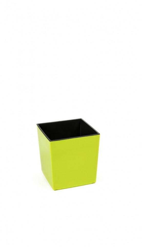 Ostatní Plastový květináč Juka lesklý 20cm Barva: žluto-zelená