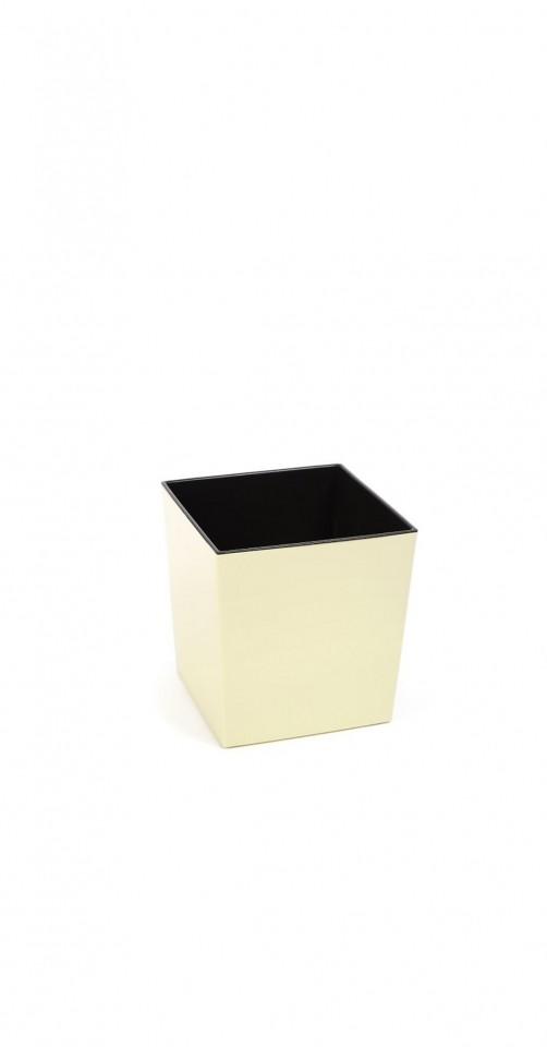 Plastový květináč Juka lesklý 20cm Barva: krémová