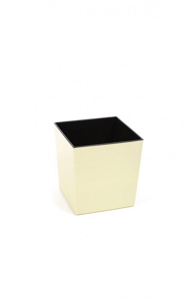 Plastový květináč Juka lesklý 26cm Barva: krémová