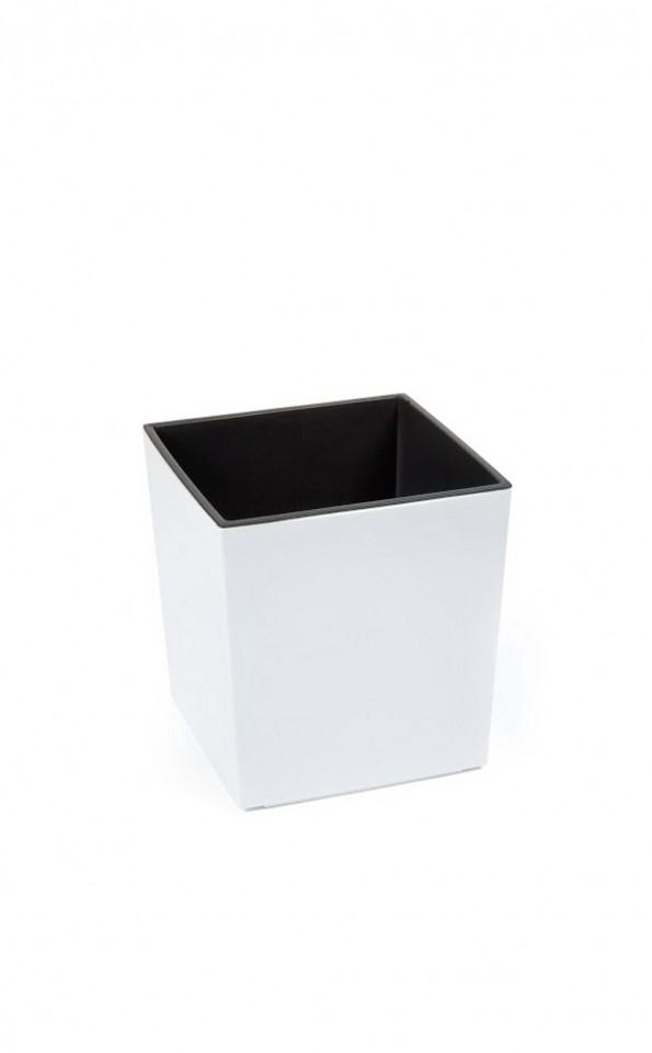 Plastový květináč Juka lesklý 26cm Barva: bílá