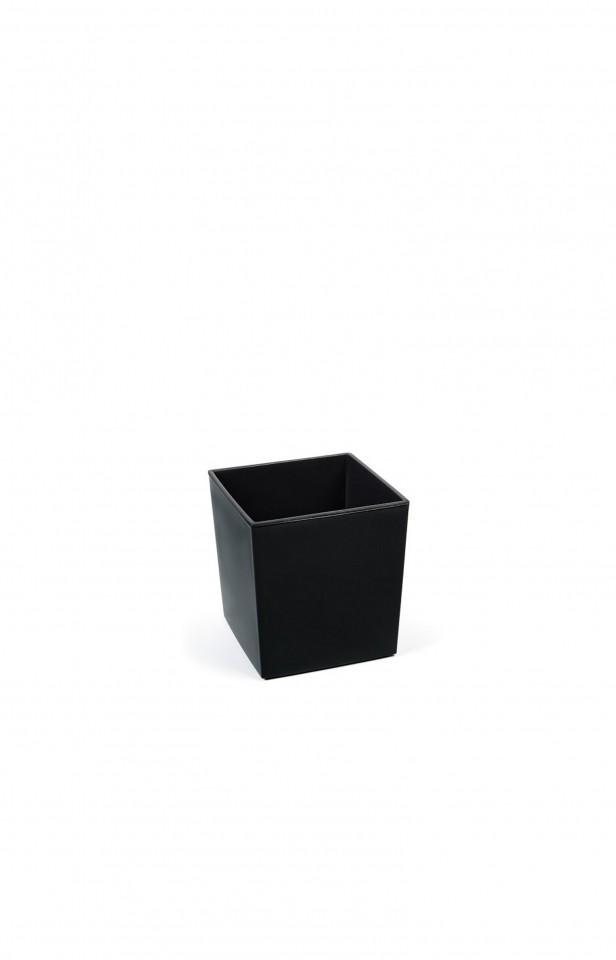 Plastový květináč Juka lesklý 26cm Barva: černá