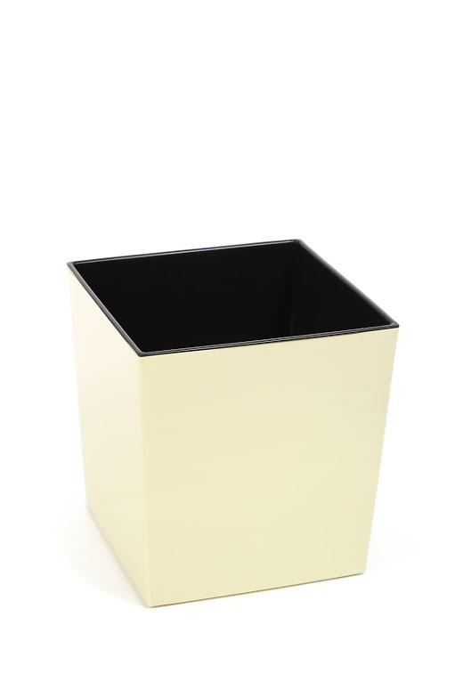 Plastový květináč Juka lesklý 31cm Barva: krémová