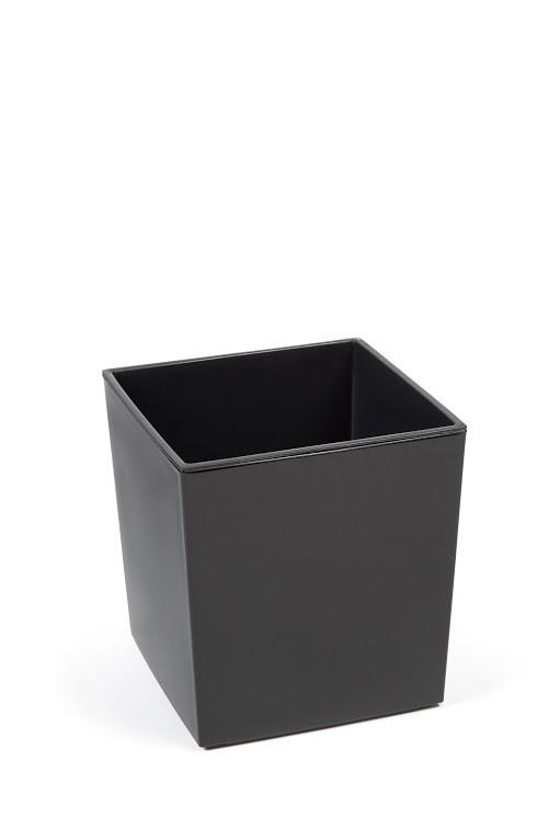 Plastový květináč Juka lesklý 42cm Barva: šedá