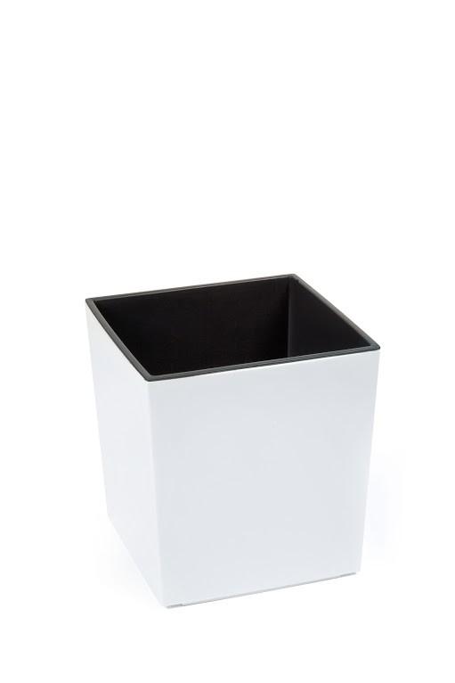 Plastový květináč Juka lesklý 42cm Barva: bílá