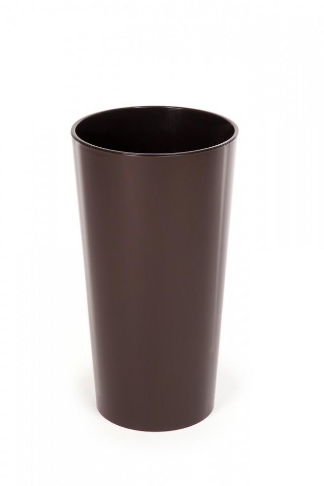 Plastový květináč Lilia lesklý 270mm Barva: hnědá