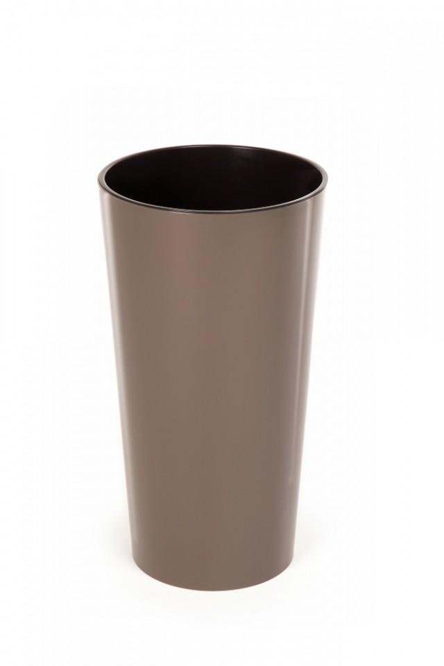 Plastový květináč Lilia lesklý 270mm Barva: světle hnědá