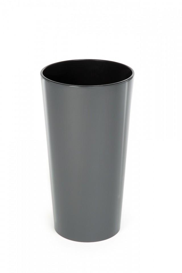 Plastový květináč Lilia lesklý 270mm Barva: tmavě šedá