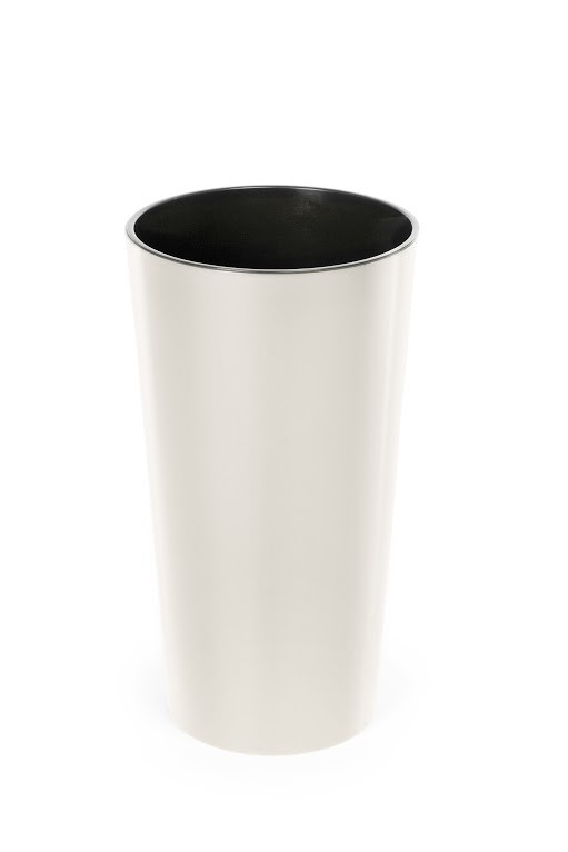 Plastový květináč Lilia lesklý 270mm Barva: krémová