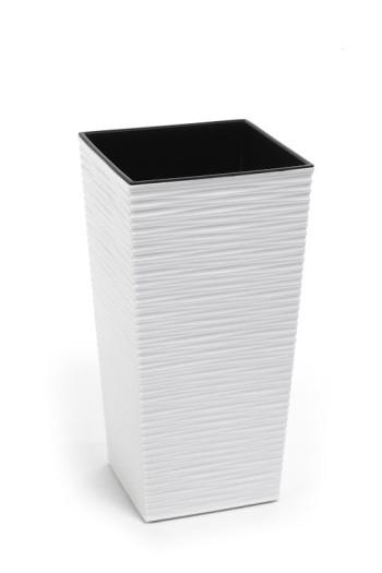 Plastový květináč Finezia vroubek 47cm Barva: bílá