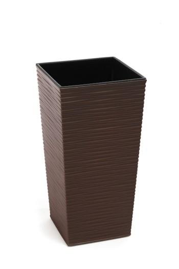 Plastový květináč Finezia vroubek 57cm Barva: hnědá