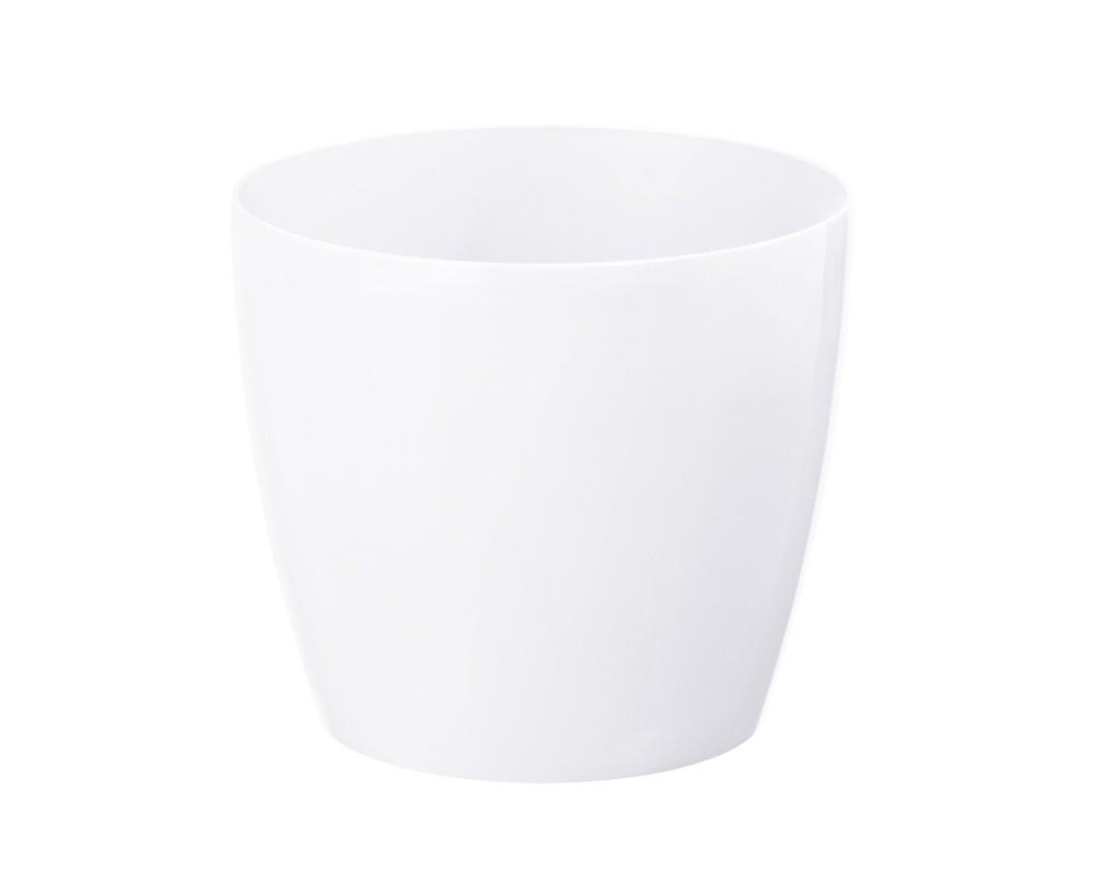 HR Plastový květináč Magnolia 21x19cm Barva: bílá