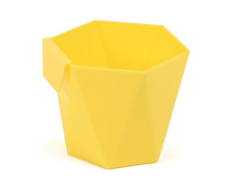 Plastový květináč Heca na zavěšení 10cm Barva: žlutá