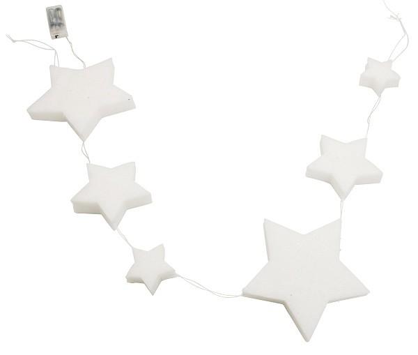 LED světelný řetěz hvězda a srdce 150cm S motivem: hvězda