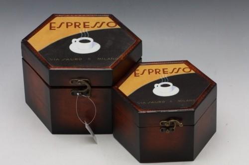 Dřevěné kufříky set 3ks