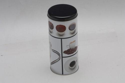 Plechová dóza na kávu 18x8cm S motivem: E