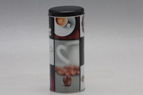 Plechová dóza na kávu 18x8cm S motivem: F