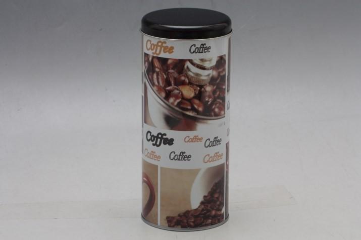 Plechová dóza na kávu 18x8cm S motivem: A