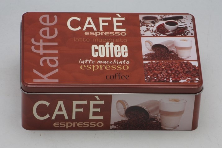 Plechová dóza Coffee 20x13x7cm Provedení: B