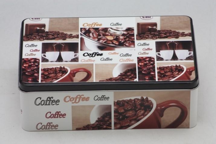 Plechová dóza Coffee 20x13x7cm Provedení: A