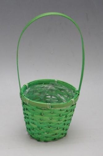 Proutěný košík na květiny primulky Barva: zelená