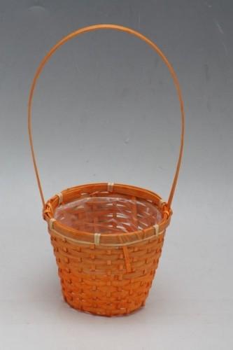 Proutěný košík na květiny primulky Barva: oranžová