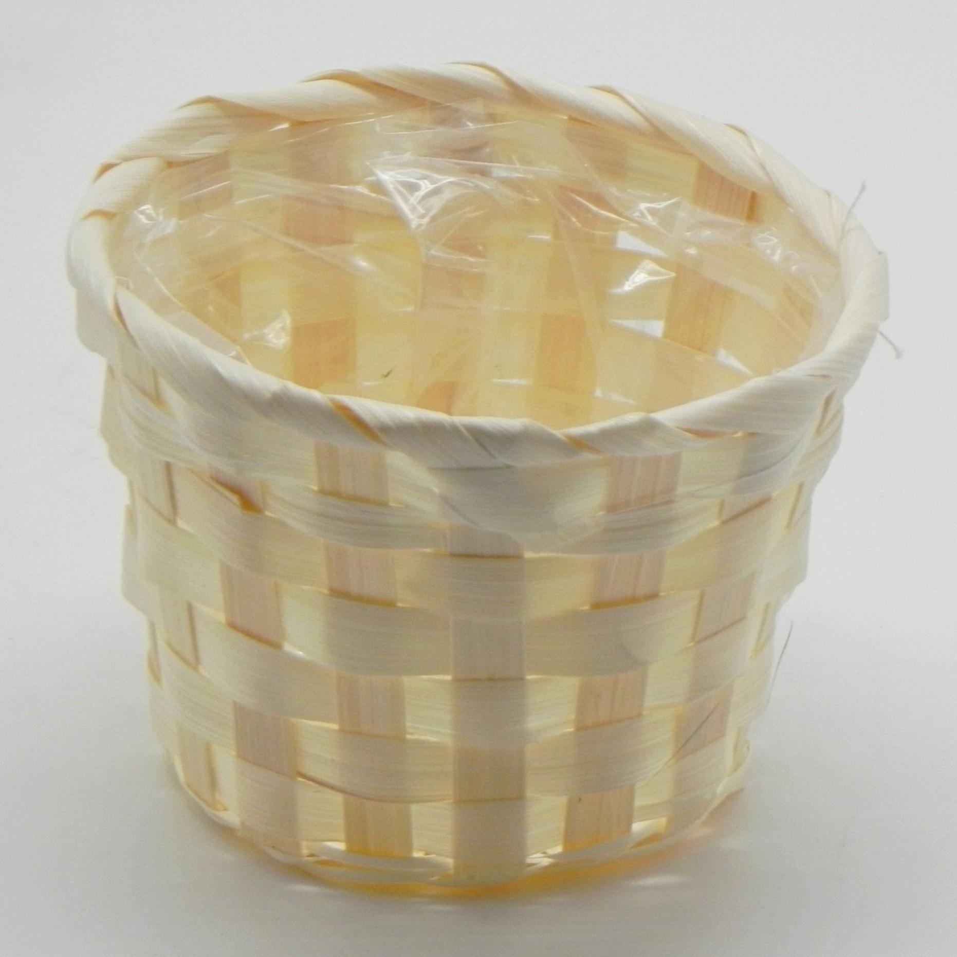 Koš bambus natural Barva: světlá, Provedení: Menší