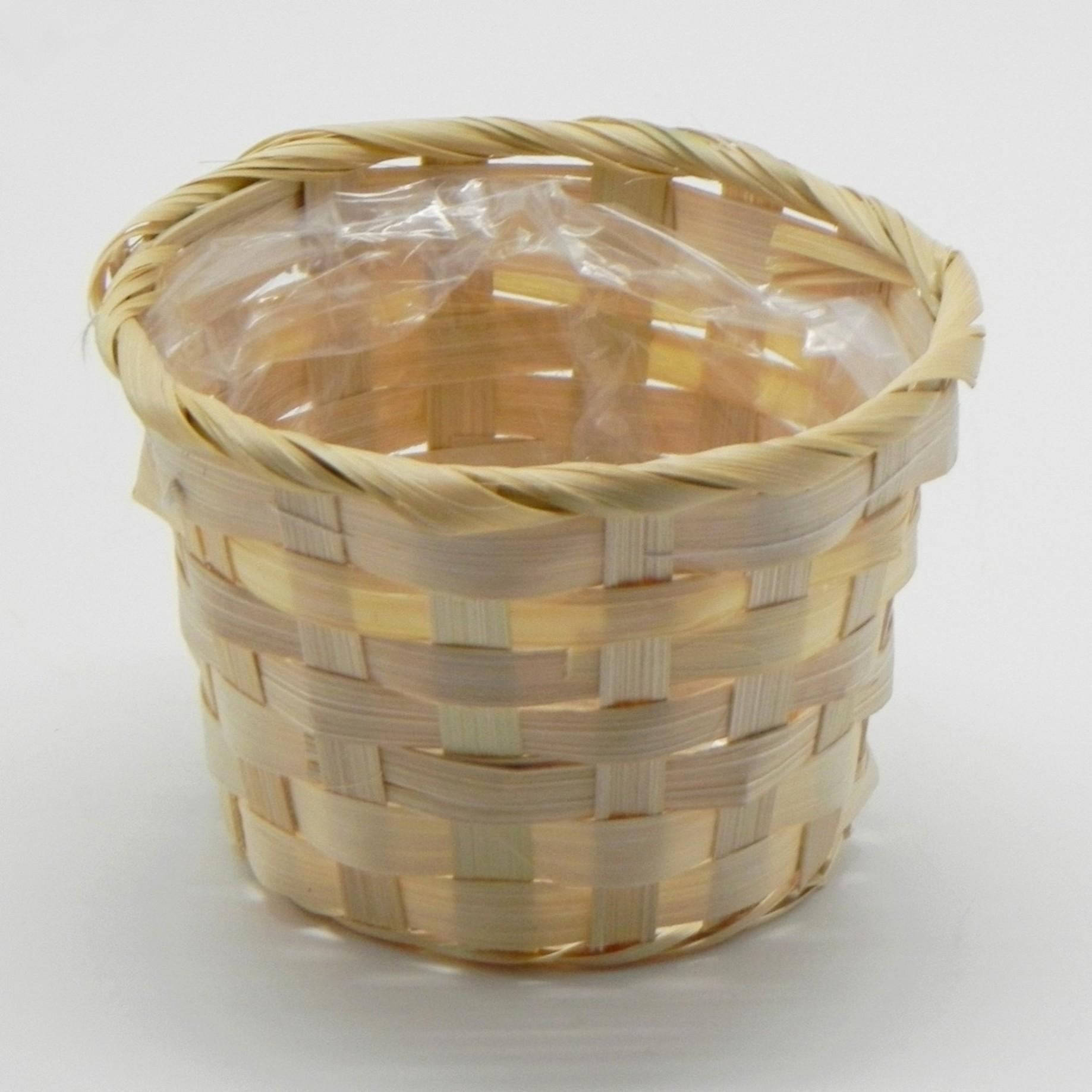 Koš bambus natural Barva: tmavá, Provedení: Menší