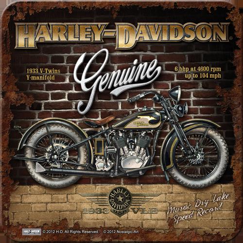 Nostalgic Art Podtácek HARLEY DAVIDSON GENUINE II Rozměry: 9x9cm 1ks, Kolekce: HARLEY DAVIDSON GENUINE