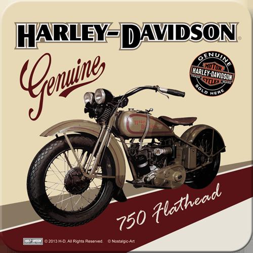 Nostalgic Art Podtácek HARLEY DAVIDSON GENUINE III Rozměry: 9x9cm 1ks, Kolekce: HARLEY DAVIDSON GENUINE