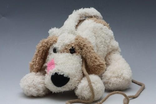 Plyšová taška ve tvaru psa Barva: hnědá