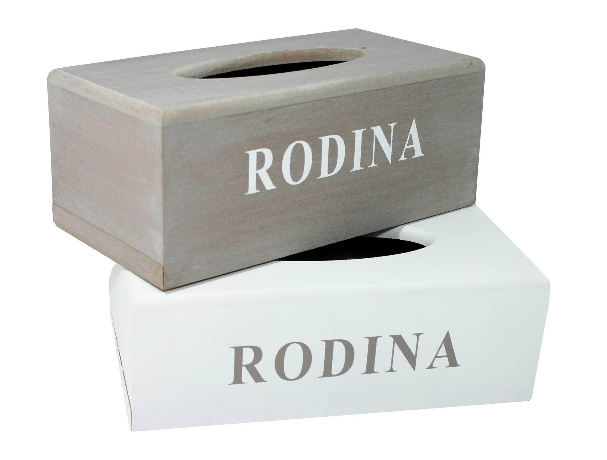 Box na kapesníky Rodina 26x13x9cm Barva: bílá