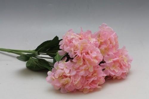 Hortenzie umělá kytice Barva: růžová