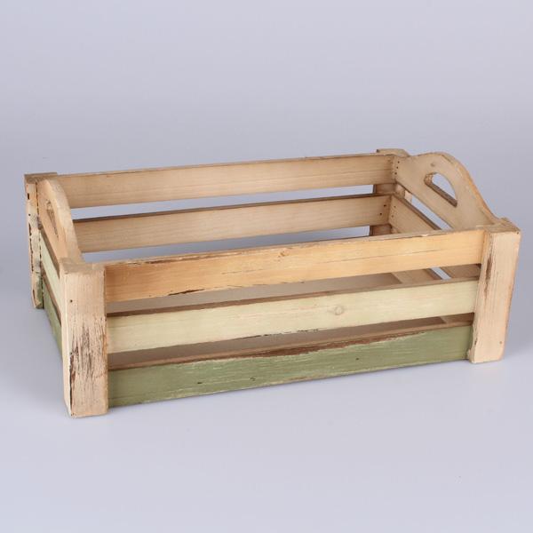 Casa de Engel Dřevěná přepravka 36 × 14,5 × 25 cm