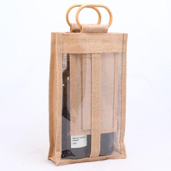 Jutová taška pro 2 lahve vína