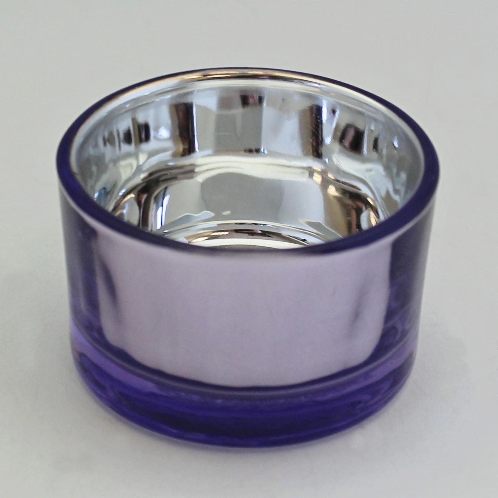 Svícen sklo 4x5cm Barva: fialová