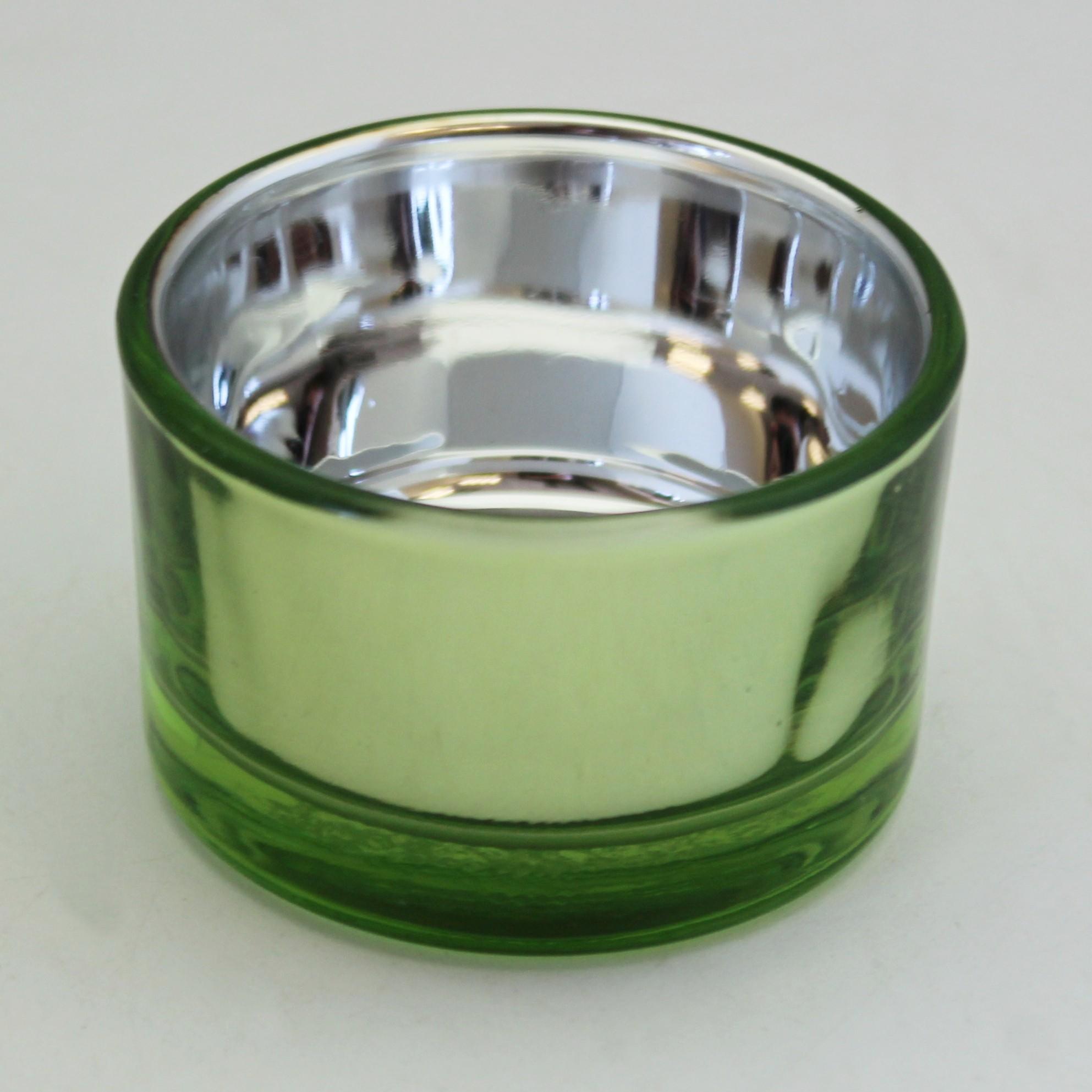 Svícen sklo 4x5cm Barva: zelená