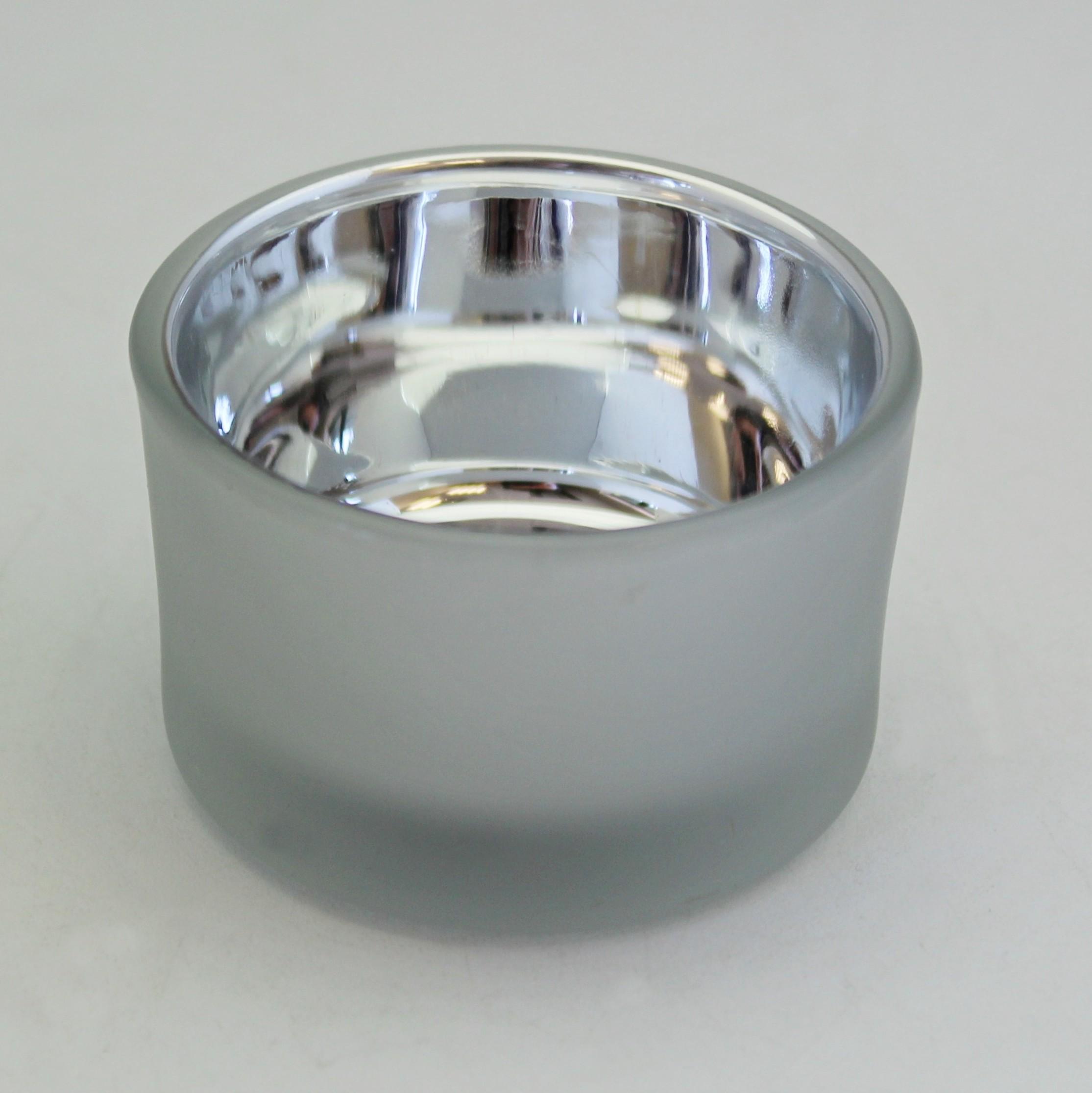 Svícen sklo 4x5cm Barva: bílá