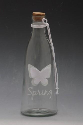 Lahev sklo motýl 24cm