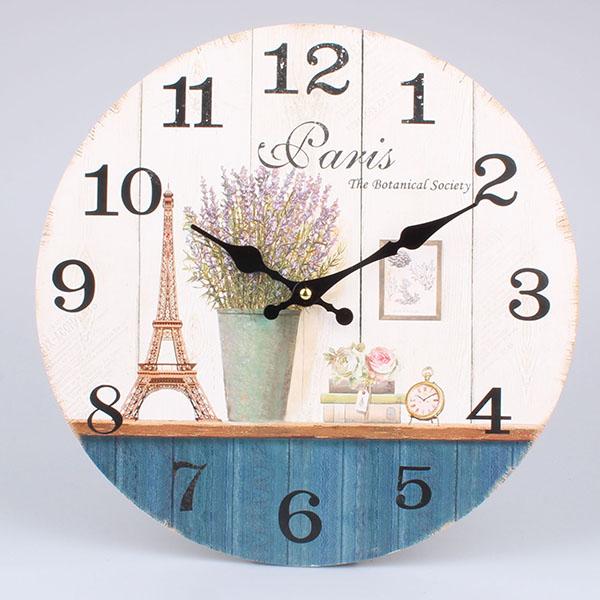 Casa de Engel Dřevěné hodiny Paris 34x34x1cm