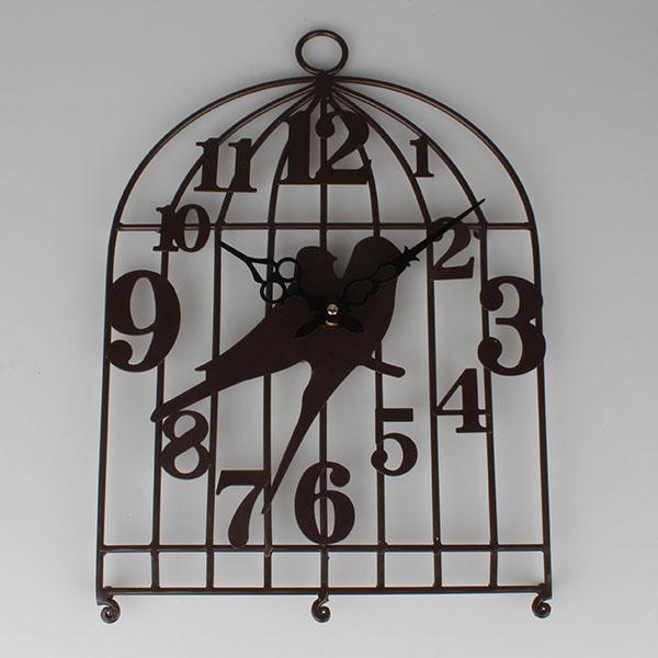 Casa de Engel Kovové hodiny ptáčci Barva: černá