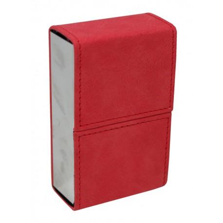 Pouzdro na cigarety kožené se zrcátkem Barva: červená