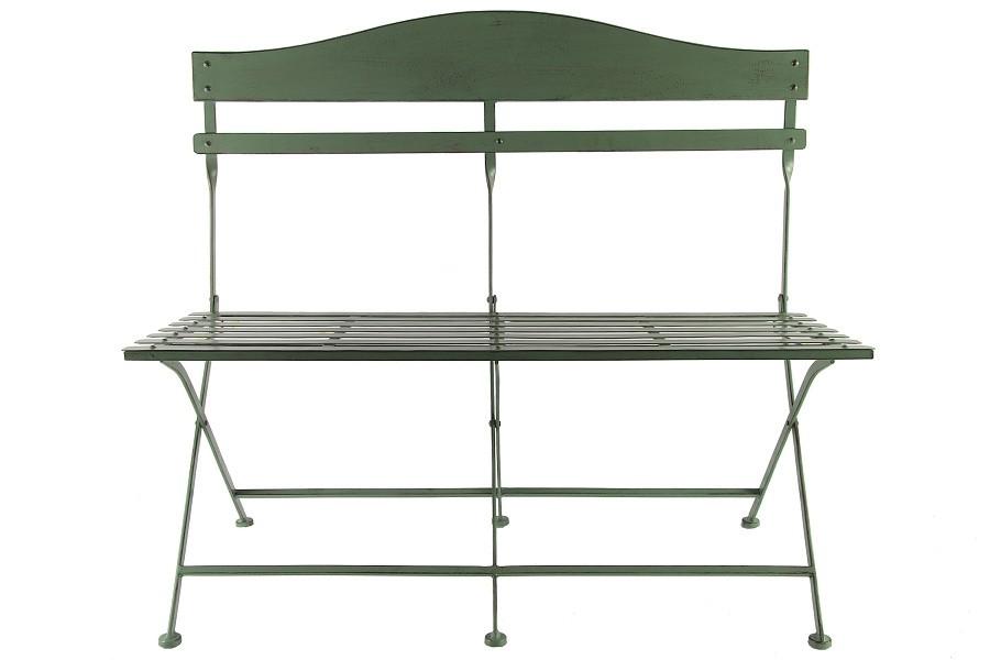Lavička kovová zelená 93x54x103cm