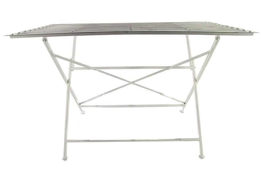 Stůl kovový skládací bílý